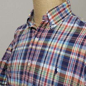 Ralph Lauren multi color plaid short sleeve blake